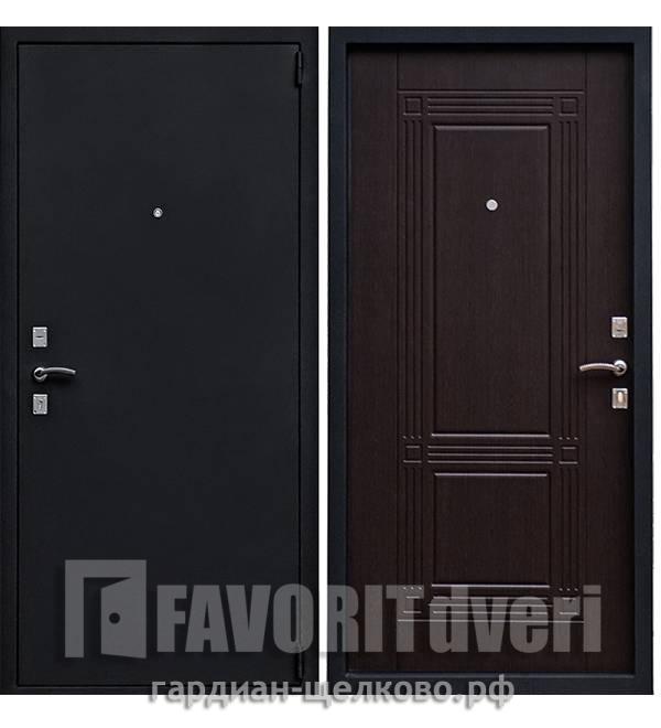 Металлическая дверь Ратибор Оптима Шелк Венге