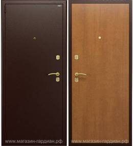 Cтальная дверь ДС2 (коричневая / орех итальянский)