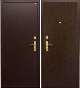 Cтальная дверь ДС1 (коричневая / венге темный), Га