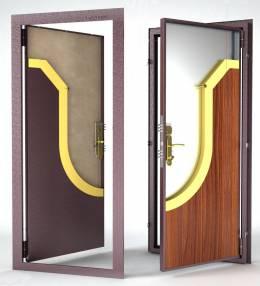 Металлическая дверь Гардиан ДС-1 (внутреннего откр