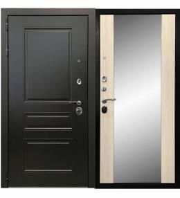 Копия Металлическая дверь Ратибор Витраж 3К Листве