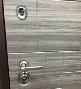 Металлическая дверь Ратибор Омега 3К Акация попере