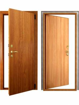 Входная металлическая дверь 'Фактор' (светлый орех