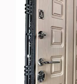 Металлическая дверь Ратибор Зодиак Выбеленный Дуб