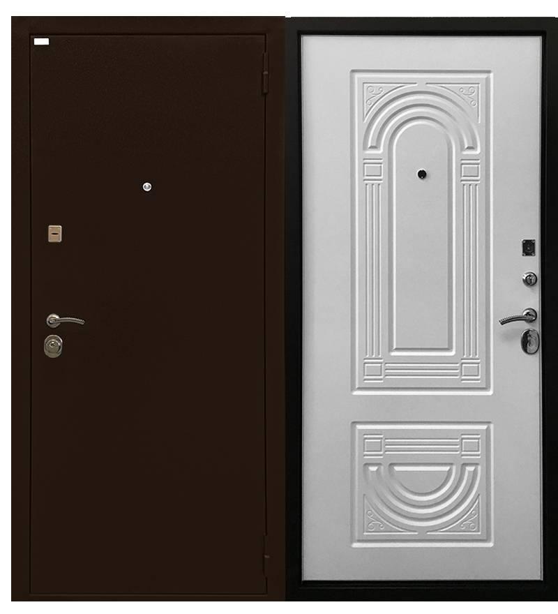 Металлическая дверь Ратибор Оптима 3К матовый белый