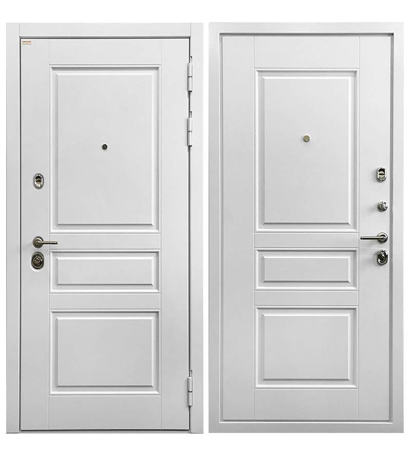 Металлическая дверь Ратибор Сноу 3К Силк сноу