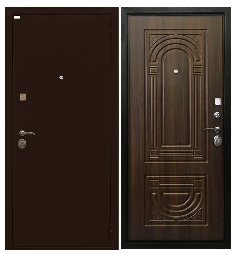 Металлическая дверь Ратибор Оптима 3К Орех бренди