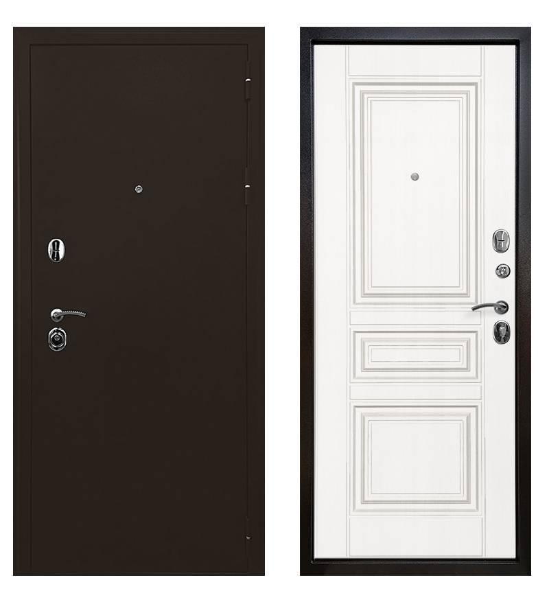 Копия Металлическая дверь ратибор Троя 3К (Белая матовая)