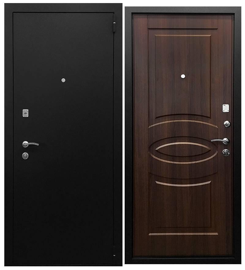 Металлическая дверь Ратибор Классик Орех бренди