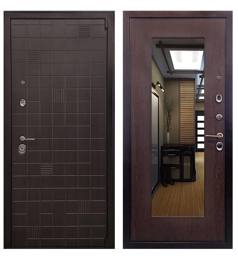 Металлическая дверь Ратибор Силуэт 3К  Венге капучино