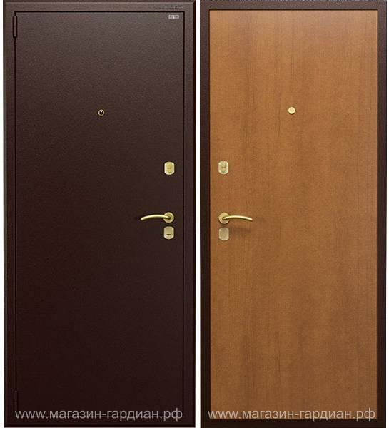 Cтальная дверь ДС2 (коричневая / орех итальянский), Гардиан 30.15 + Гардиан 32.01