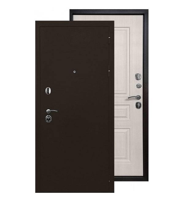 Металлическая дверь Ратибор Троя 3К (Лиственница беж)