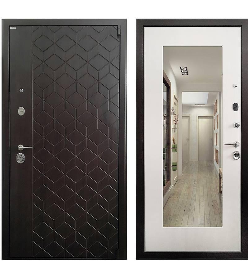 Металлическая дверь Ратибор Квант 3К  Лиственница беж
