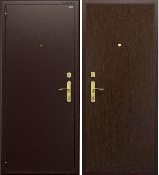 Металличекая дверь Гардиан ДС1 базовая (коричневая / венге темный), Гардиан 30.12 + Гардиан 32.01