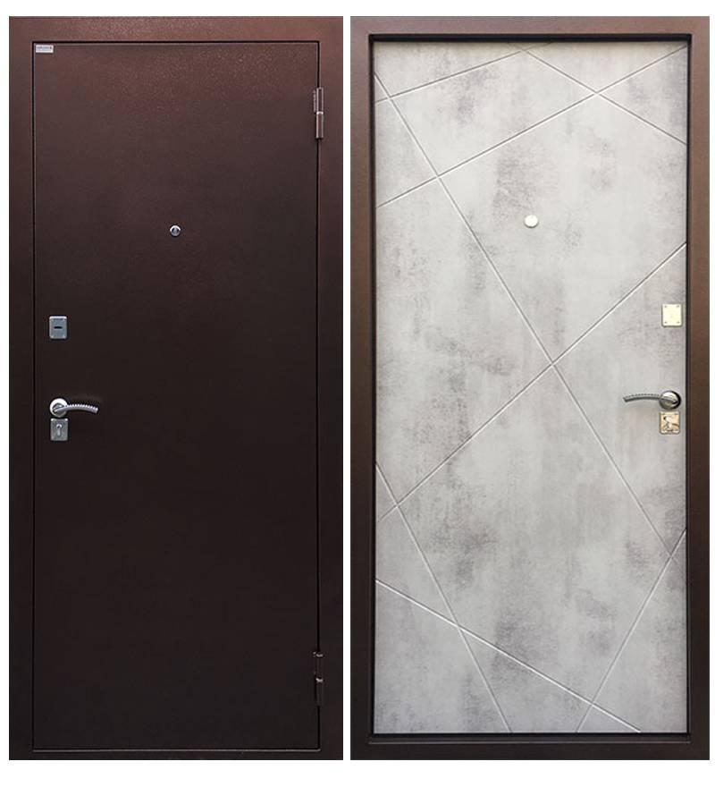 Металлическая дверь Рубеж Бетон светлый