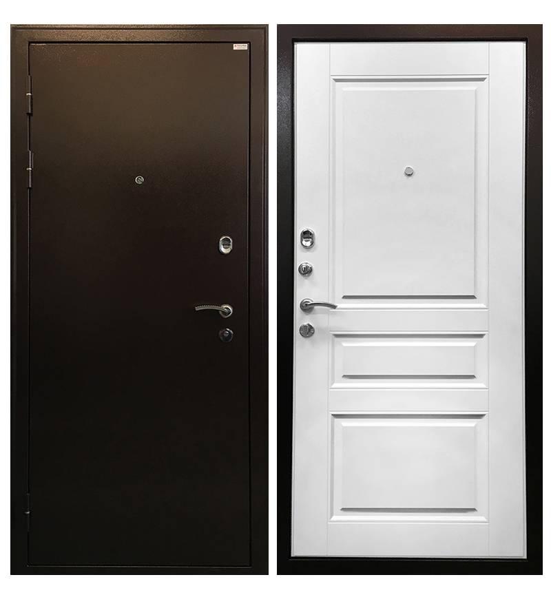 Металлическая дверь Ратибор Статус Белый ясень