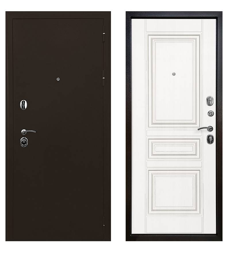 Металлическая дверь Ратибор Троя 3К (Белая матовая)