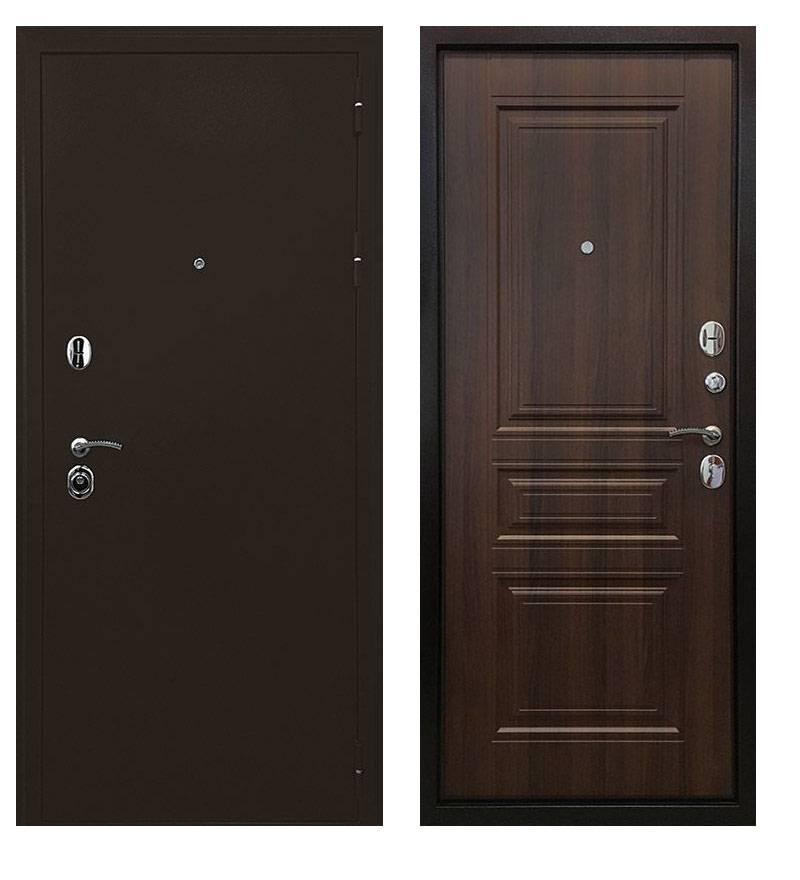 Металлическая дверь Троя 3К Орех бренди