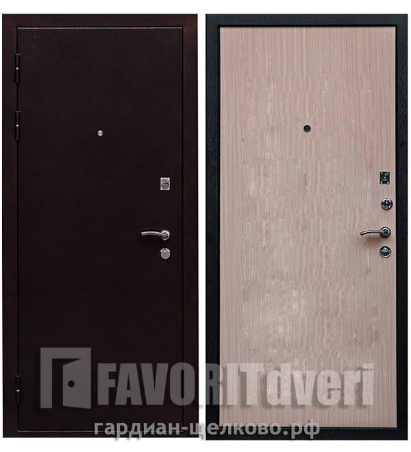 Металлическая дверь Ратибор Практик Дуб беленый