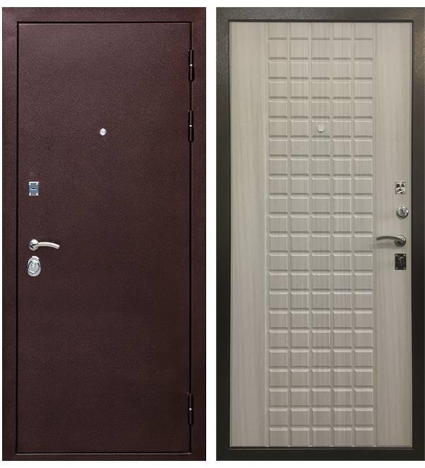 Металлическая дверь Ратибор Квадро 3К Сандал Белый