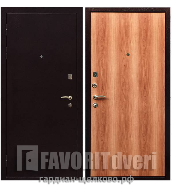 Металлическая дверь Ратибор Практик Миланский орех