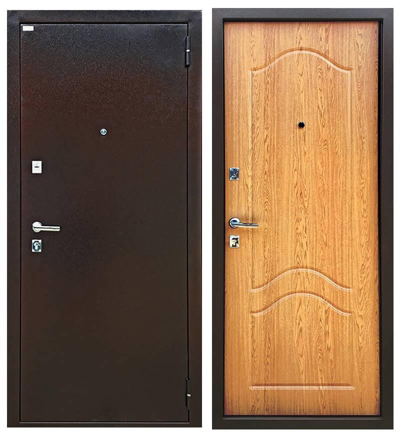 Металлическая дверь Ратибор Форт Люкс Дуб Светлый