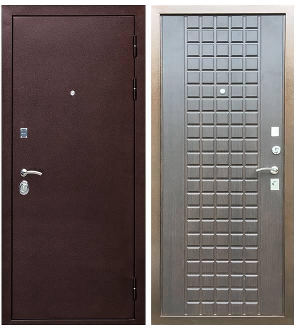 Металлическая дверь Ратибор Квадро 3К Венге
