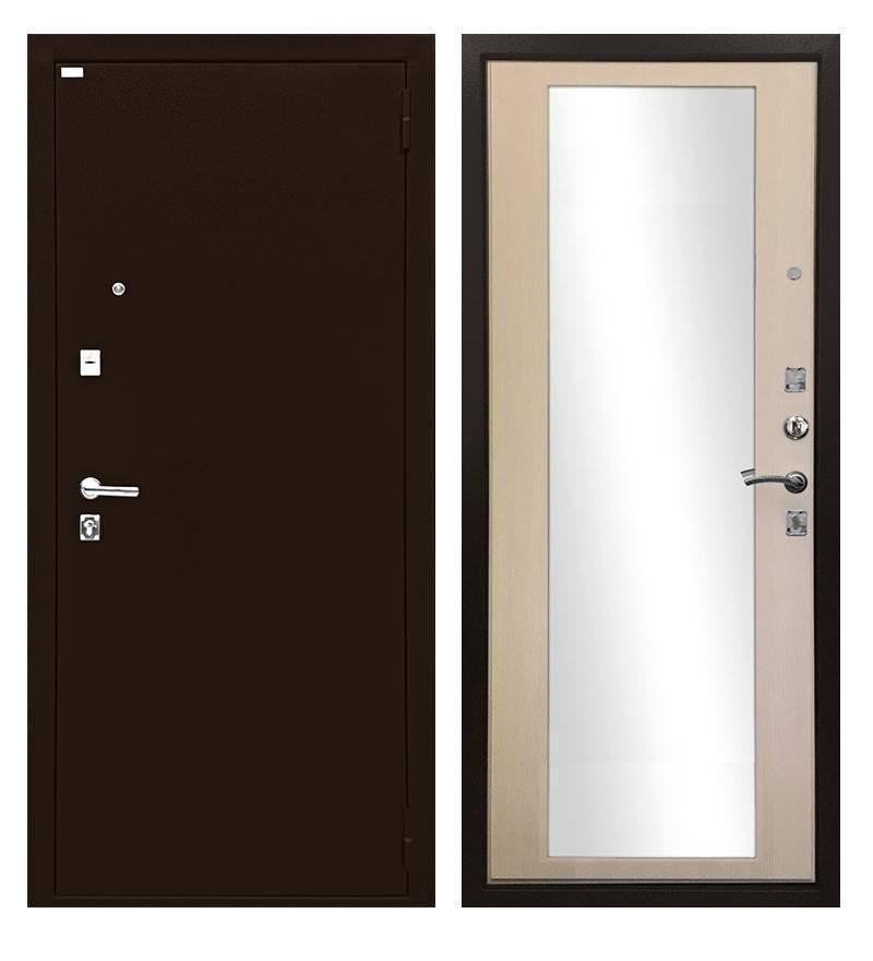 Металлическая дверь Ратибор Люкс зеркало