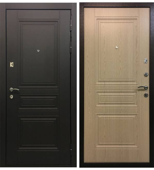 Металлическая дверь Ратибор Лондон Беленый Дуб