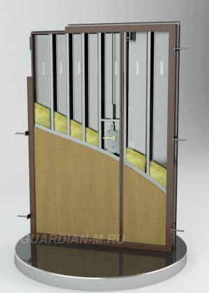 Двустворчатая стальная дверь на базе модели ДС3