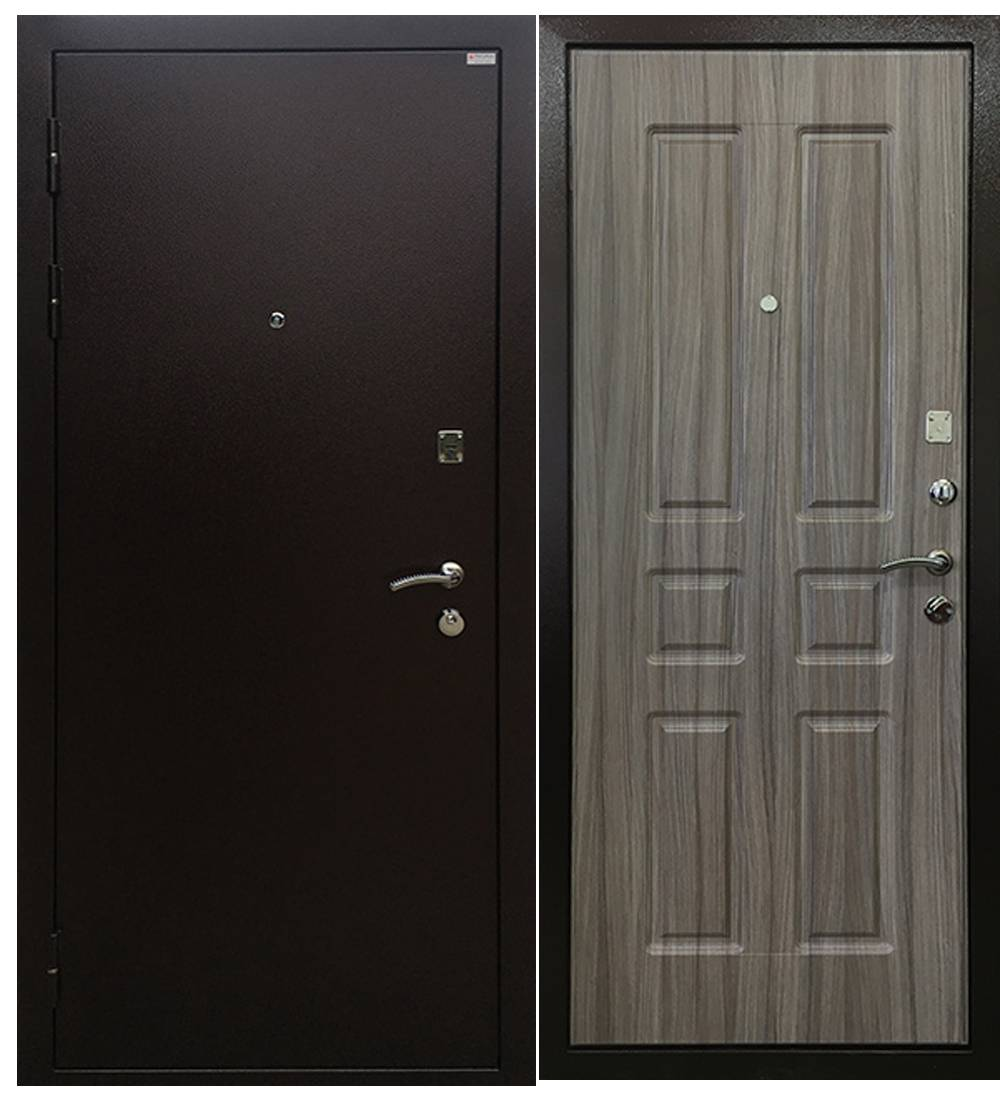 Металлическая дверь Ратибор Комфорт палисандр светлый